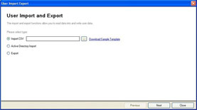 User Import and Export